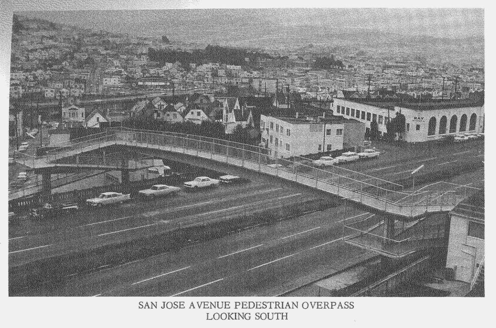 Roanoke Pedestrian Bridge 1965 San Jose Avenue Pedestrian Overpass The San Jose Ave Pedestrian Overpass Was Completed As Of A Continuing Effort To Fac Ave