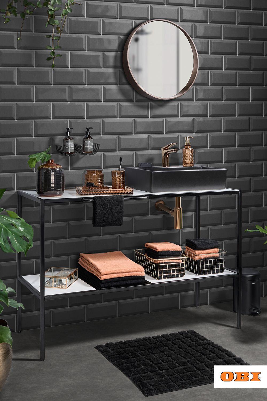 Badezimmer Gestalten Inspiration Ideen Obi In 2021 Badezimmer Gestalten Badezimmer Bauen Dunkle Innenraume