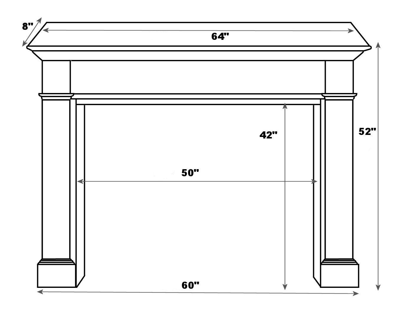 Image Result For Standard Mantel Height Fireplace Mantels