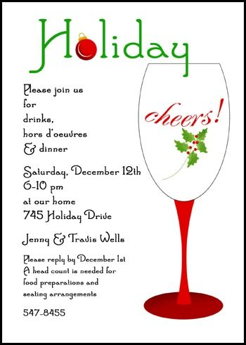 Holiday Cheers Christmas Invitation Cards Save with party