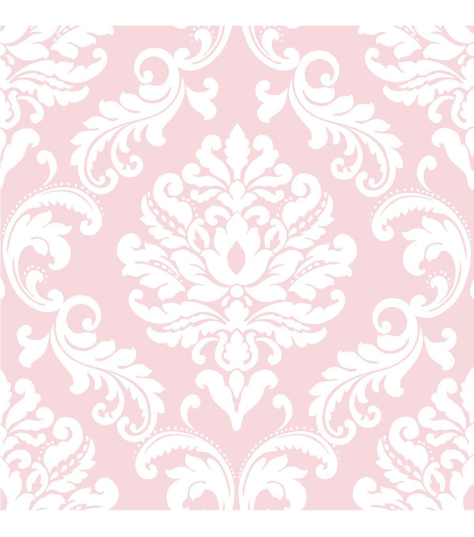 Wallpops Nuwallpaper Pink Ariel Damask Peel And Stick Wallpaper Jo Ann Damask Wallpaper Vinyl Wallpaper Peel And Stick Wallpaper