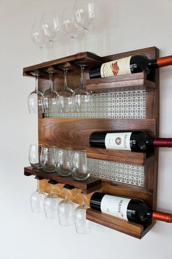 Fabriquer une étagère bar avec des palettes - Avec Mon Magasin Général | Étagères à bouteilles ...