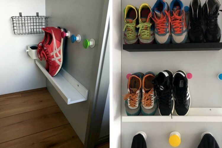DIY Shoe Storage for Small Spaces #10Ideas #shoes #racks #storage #organize#10ideas #diy #organize #racks #shoe #shoes #small #spaces #storage