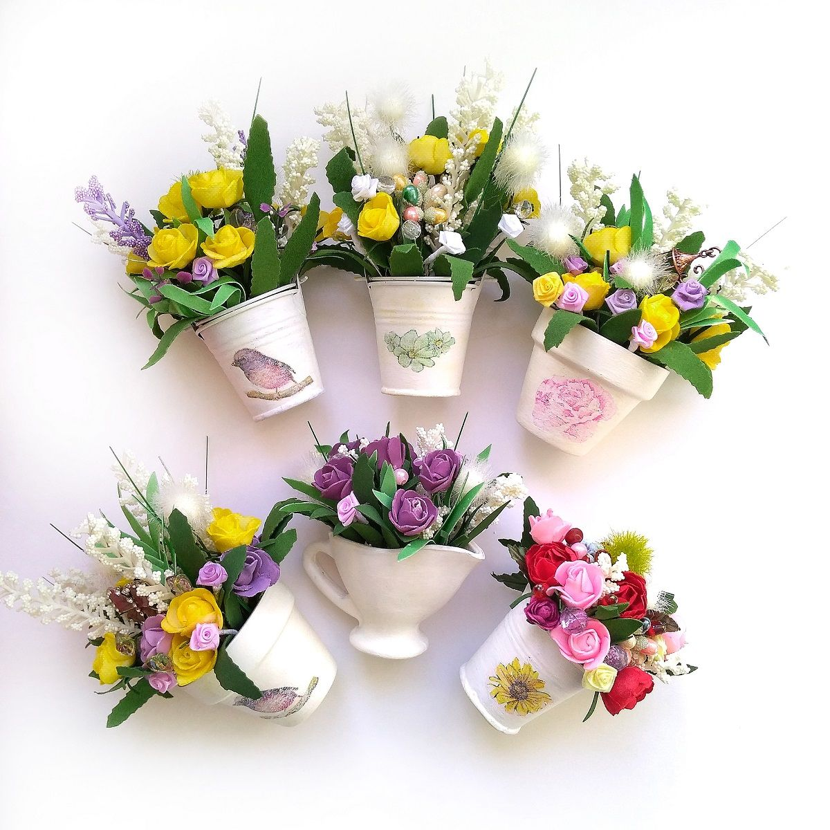 Flower Bouquet Flowers for Mom Felt Flowers Bouquet Felt Bouquet Mother/'s Day Gift Bride Bouquet