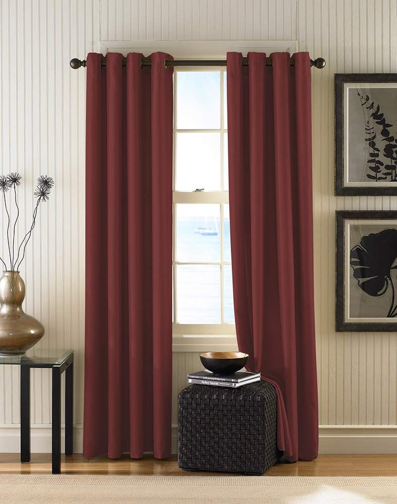 Another Plain Ish Choice For The Den With Images Grommet Top