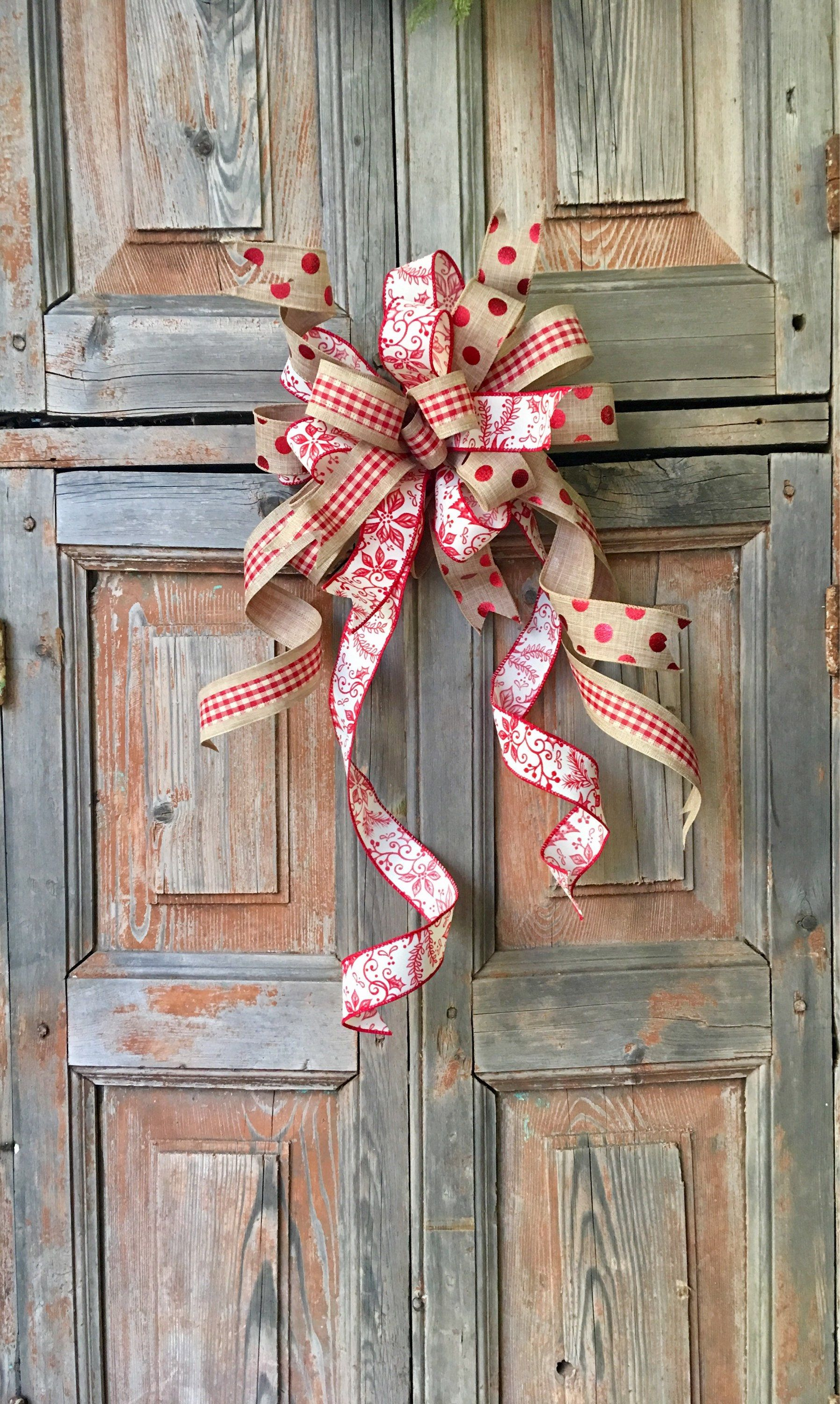 NEW!! The Marianne red and white plaid Christmas wreath