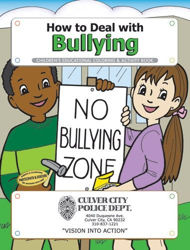 Coloring Book - How to Deal with Bullying - CB247 | Coloring Books Depot