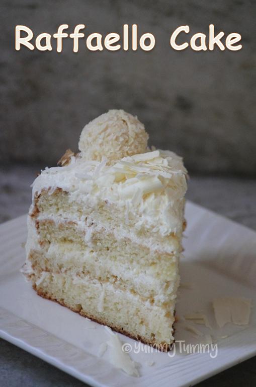 Raffaello Cake Recipe Eggless Coconut Almond Layer Cake Recipe Recipe Cake Recipes Raffaello Cake Recipe Almond Cakes