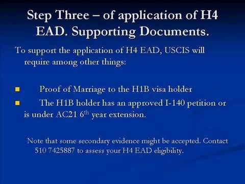 A Step By Step Instruction On How To Apply For The H4 Ead H4 Work