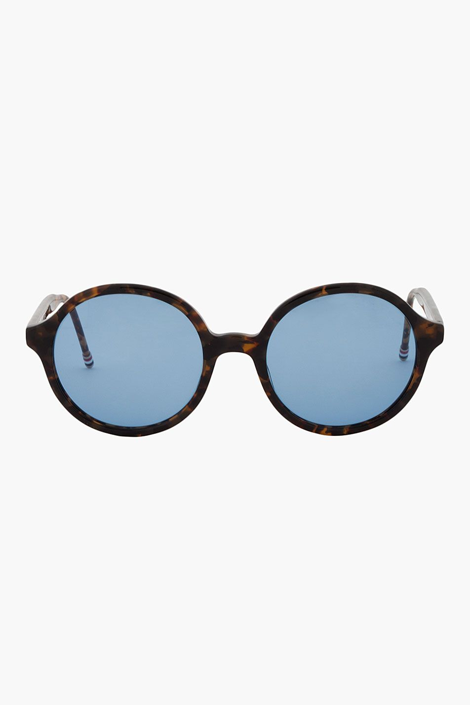 20278baeb354 Thom Browne Black And Brown Tokyo Tortoise Round Sunglasses - Thom Browne  Black And Brown Tokyo Tortoise Round Sunglasses Thom Browne Round lens  sunglasses ...