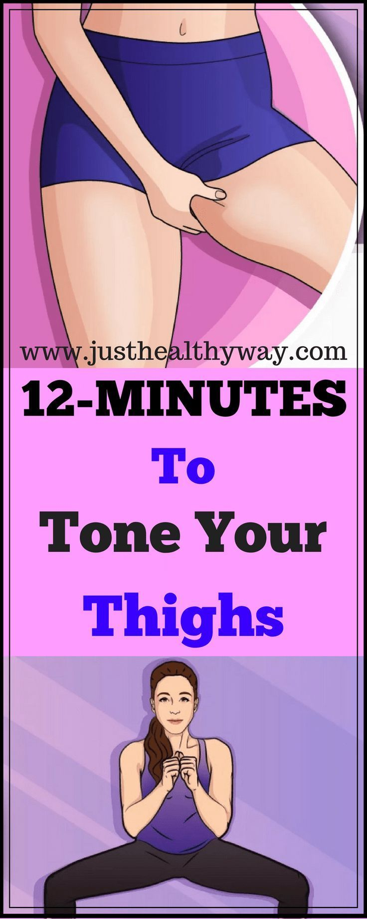 Here Are 12 Minute Workout To Tone Thighs & Burn Fat At Home #fitness #fitnessworkouts