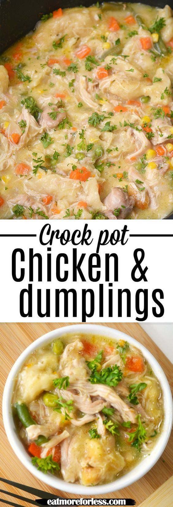 Crock Pot Chicken and Dumplings #chickendumplingscrockpot