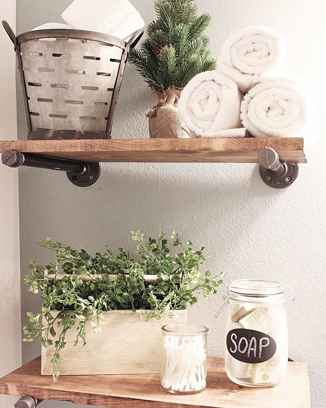Greenery Swoon Spa Bathroom Decor Bathroom Shelf Decor Bathroom Spa