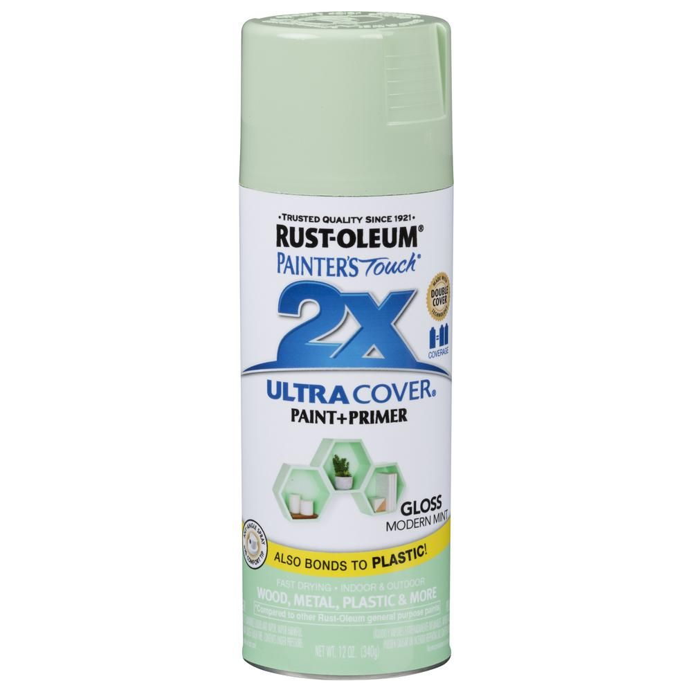 Rust Oleum Painter S Touch 2x 12 Oz Gloss Modern Mint General Purpose Spray Paint 6 Pack Rustoleum Blue Spray Paint Green Spray Paint