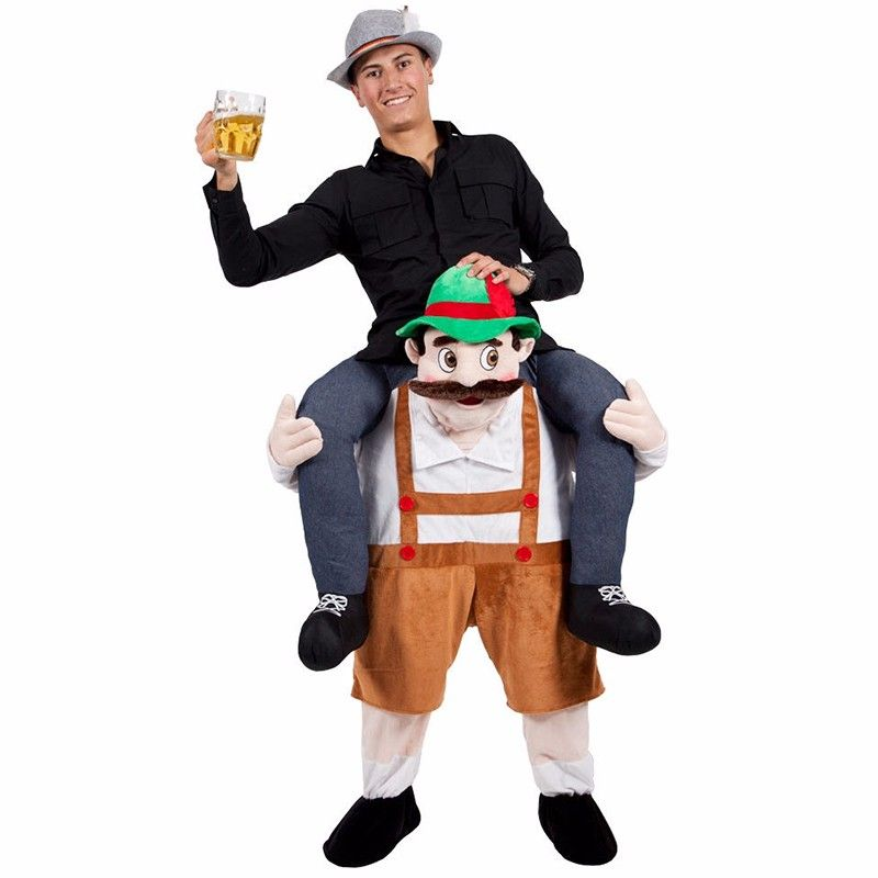 Mens Oktoberfest Bavarian Costume Shoulder Carry On Piggy Back Ride Me Party