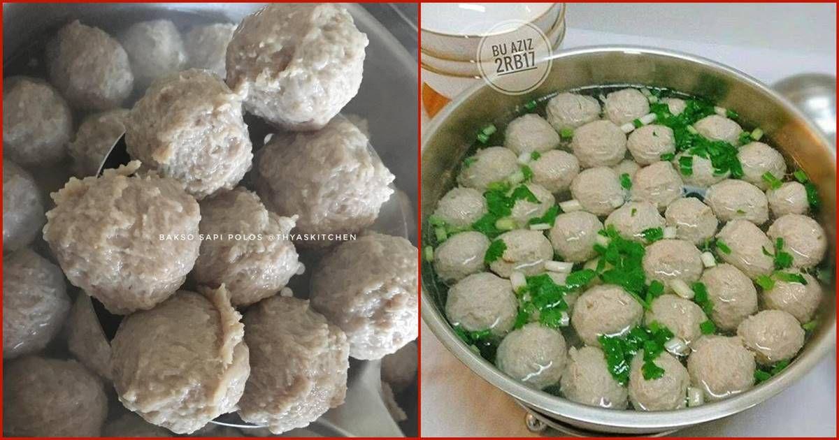 Resep Membuat Bakso Daging Homemade Enak Kenyal Dan Bikin Nagih By Thyas Kitchen Di 2020 Ide Makanan Memasak Resep Masakan