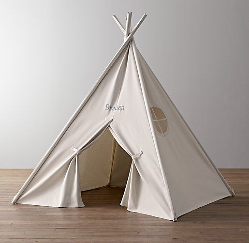 Restoration Hardware Canvas Tent To Hide All Luc S Toys In The Living Room 298