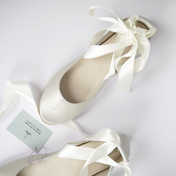 b52ca8c32b7 Champagne Leather Bridal Handmade Ballet Flats with by elehandmade