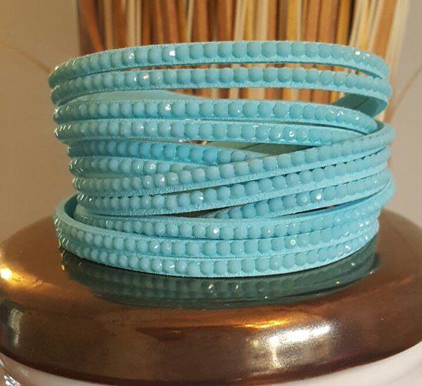 Matte Wrap Bracelet in Aqua