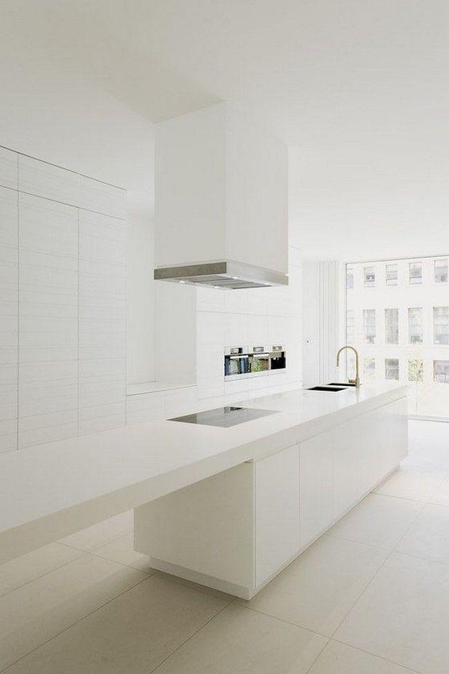 Queréis inspiración para la decoración de cocinas blancas modernas