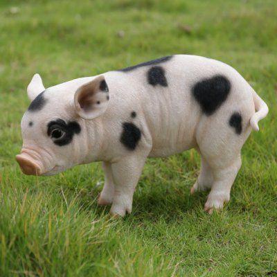 Hi Line Gift Ltd. Baby Pig Garden Statue   87726 A
