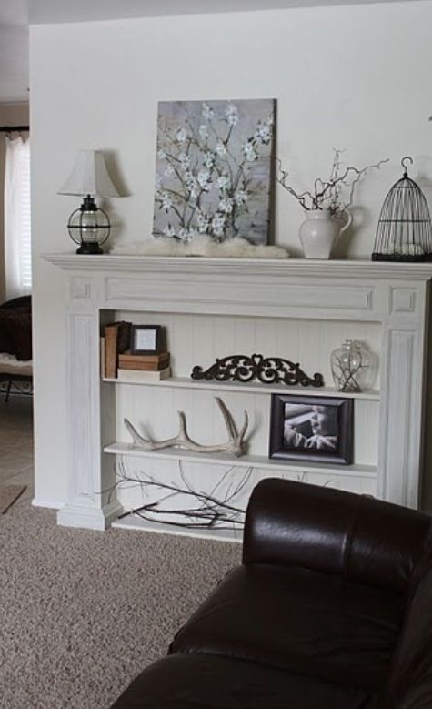 Fake Mantle Faux Fireplace Mantels Fireplace Bookcase Faux