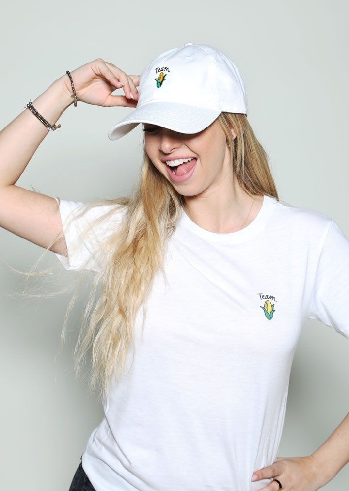 Team Corn Dad Hat - White - Riot Society