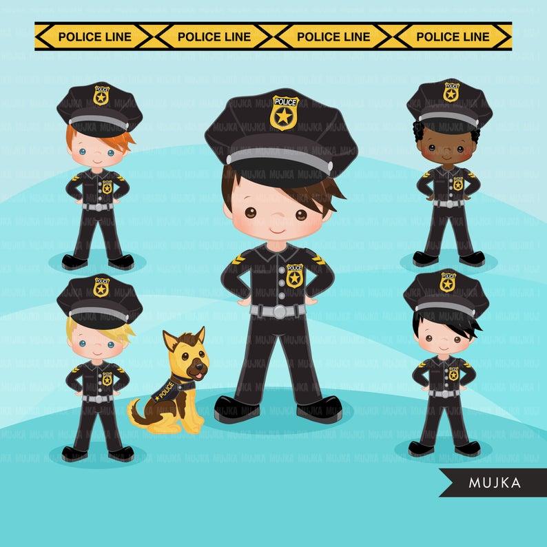 Cops Police Officer Clipart Boy Girl Police Car K9 Police Dog Clip Art Profession Graphics K9 Police Dogs Police K9 Police Dogs