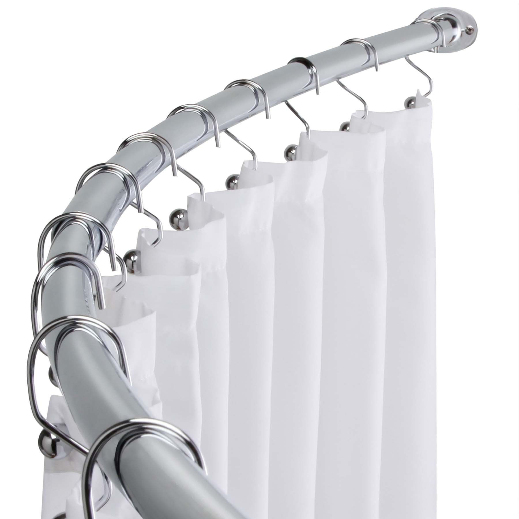 Arista Bath Csr002 Ch Adjustable Curved Shower Curtain Rod
