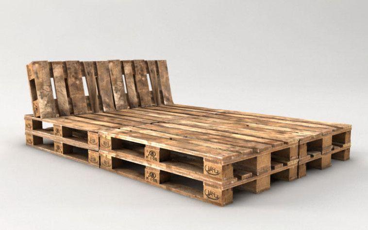 Palettenbett Bauen Ganz Einfach Hier 2 Praktische Varianten Palettenbett Europaletten Bett Bettrahmen Aus Holzpaletten