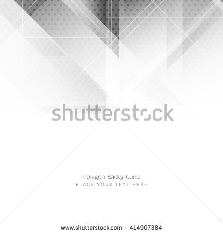 Abstract Grey Color Modern Polygon Background