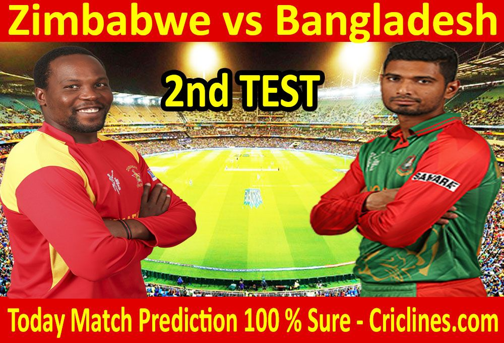 Bangladesh vs Zimbabwe 2nd test today match prediction  We