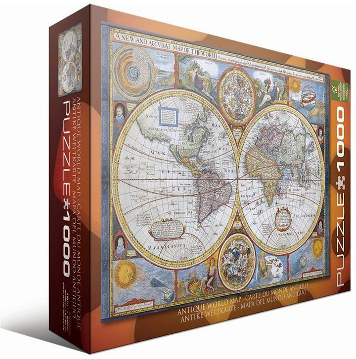 Eurographics 1000 pc antique world map jigsaw puzzle httpsapi antique world map jigsaw puzzle httpsapi gumiabroncs Choice Image