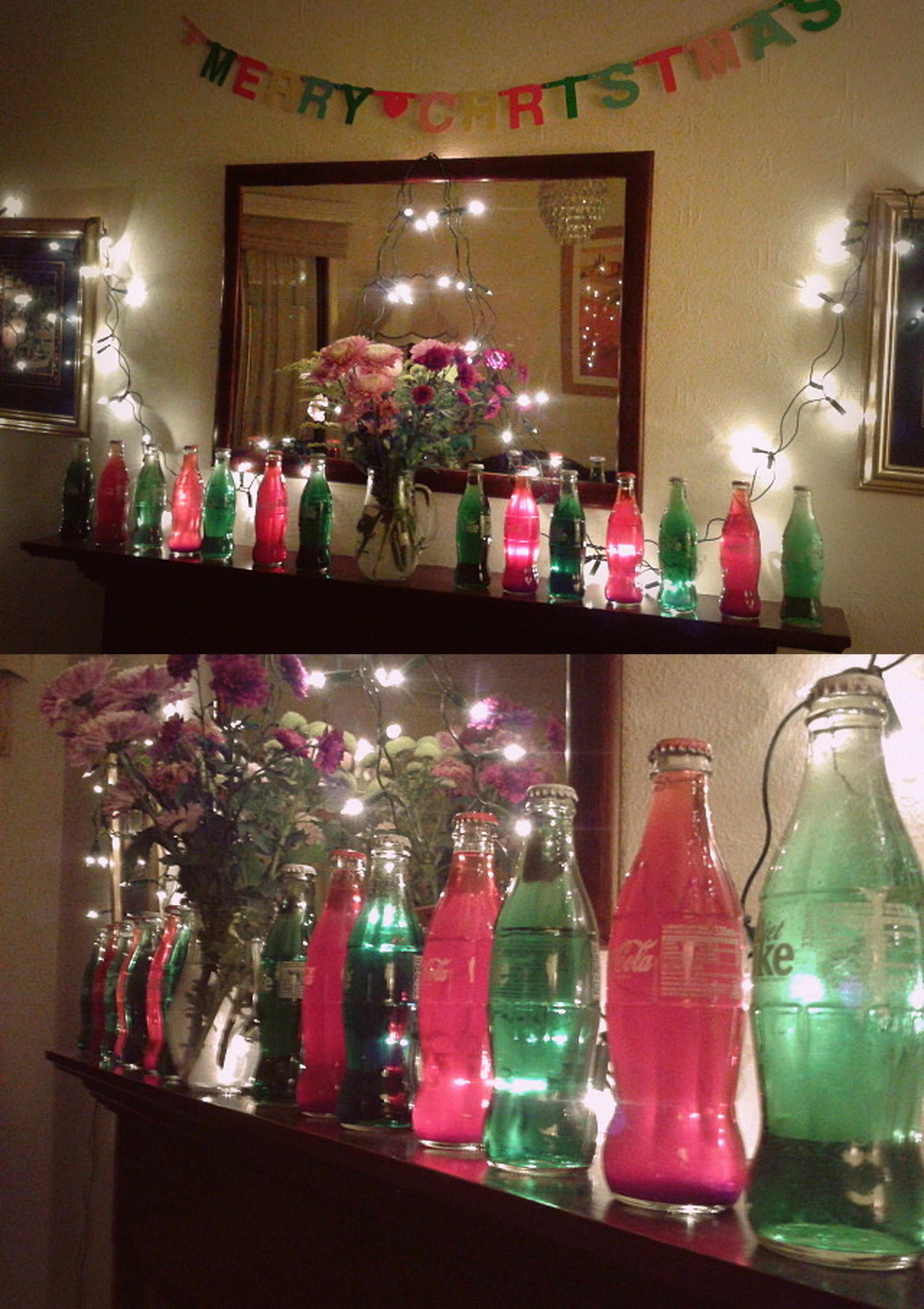 Bottle Christmas Decoration Diy Coke Bottle Christmas Decorations  Fill A Coke Bottle With A