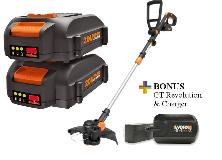 Worx New Deal Buy 2 20v Batteries Get Free Gt Revolution And Charger Wg170 Worx Fall Yard Diy Batte Outdoor Power Equipment Yard Tools Hot Deals