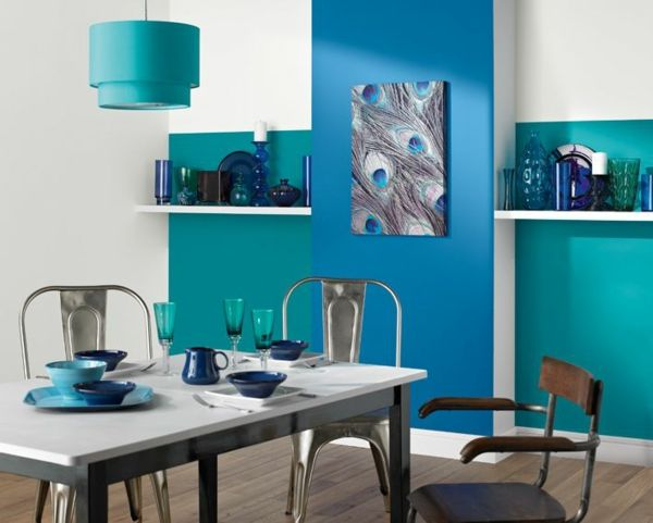 Kombinationen Von Wandfarben Blau Grün