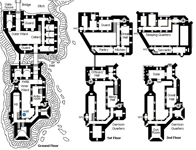 Its A Simple Castle Castle Floor Plan Castle Layout Medieval Castle Layout