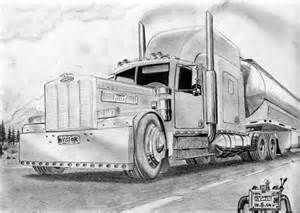 Custom Peterbilt Truck Drawings Bing Images Coches Camion