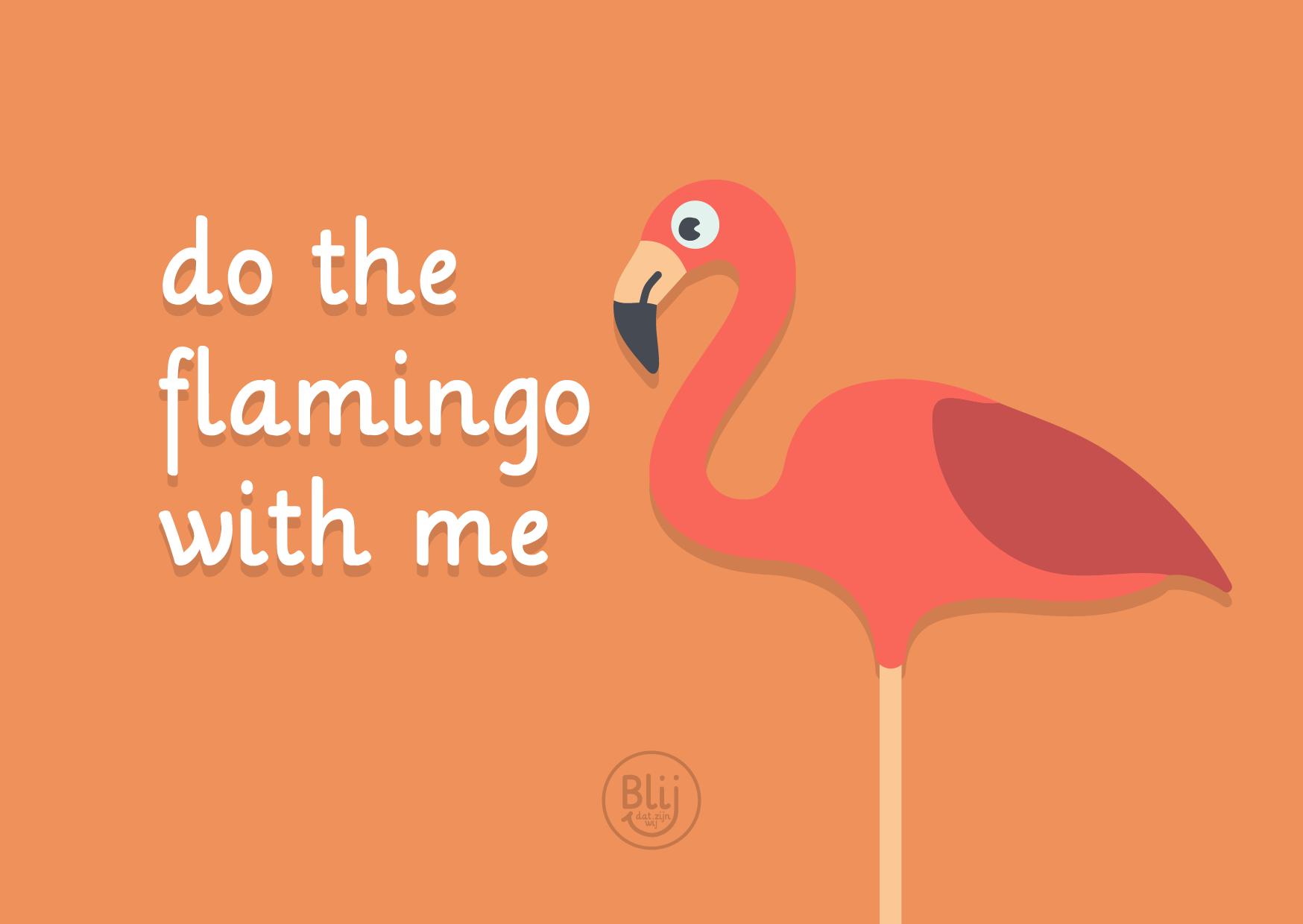 do the flamingo with me blijdatzijnwij.nl