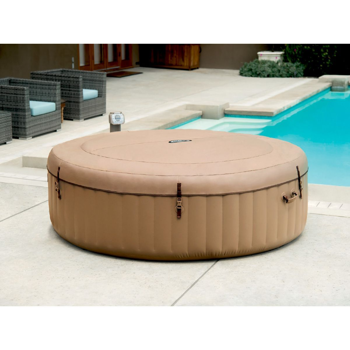 Spa Gonflable Purespa Rond Bulles 6 Places Intex Taille