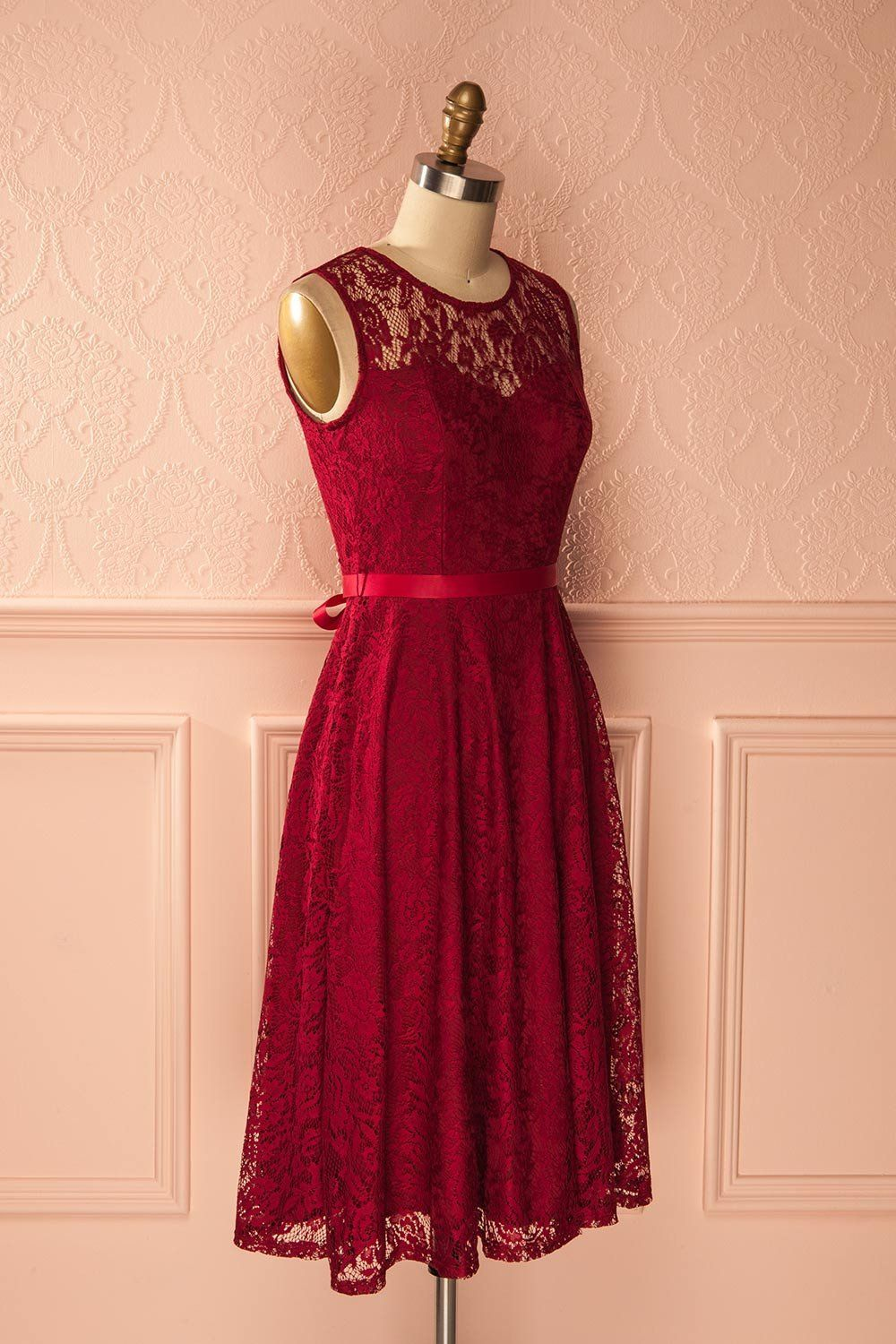 Varinia Vin - Burgundy lace midi dress
