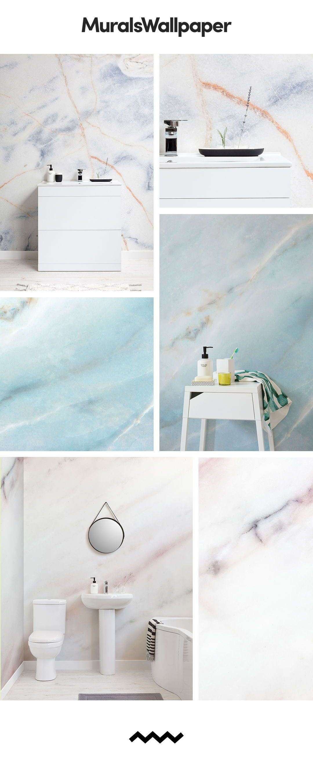Create A Classy And Sophisticated Bathroom Space With Marble Effect Wallpapers Featuring Amazing Marble Effect Textures Throug Marble Effect Wallpaper