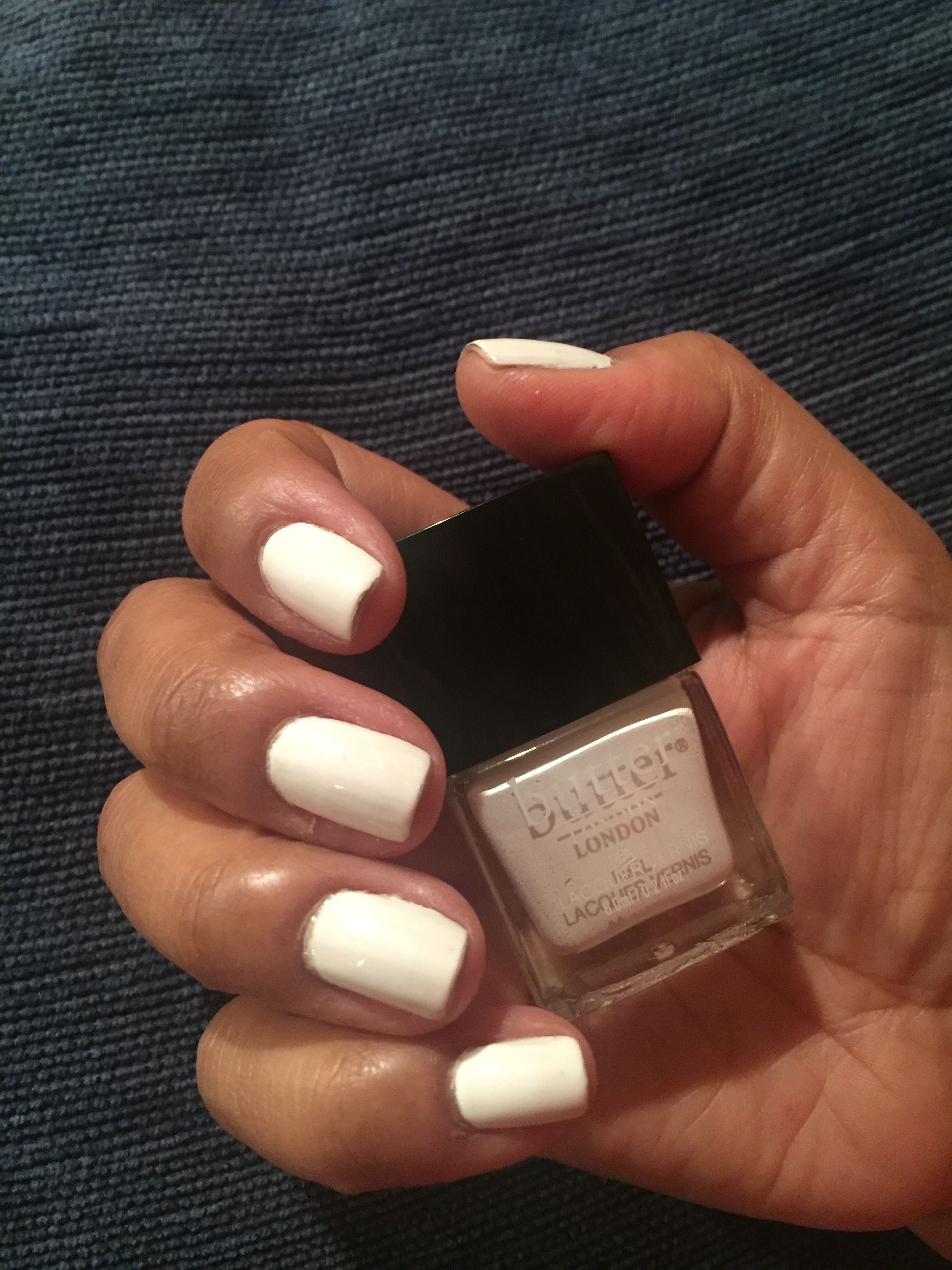 Winter White Nails for New Years Butter London polish in Cotton Buds ...