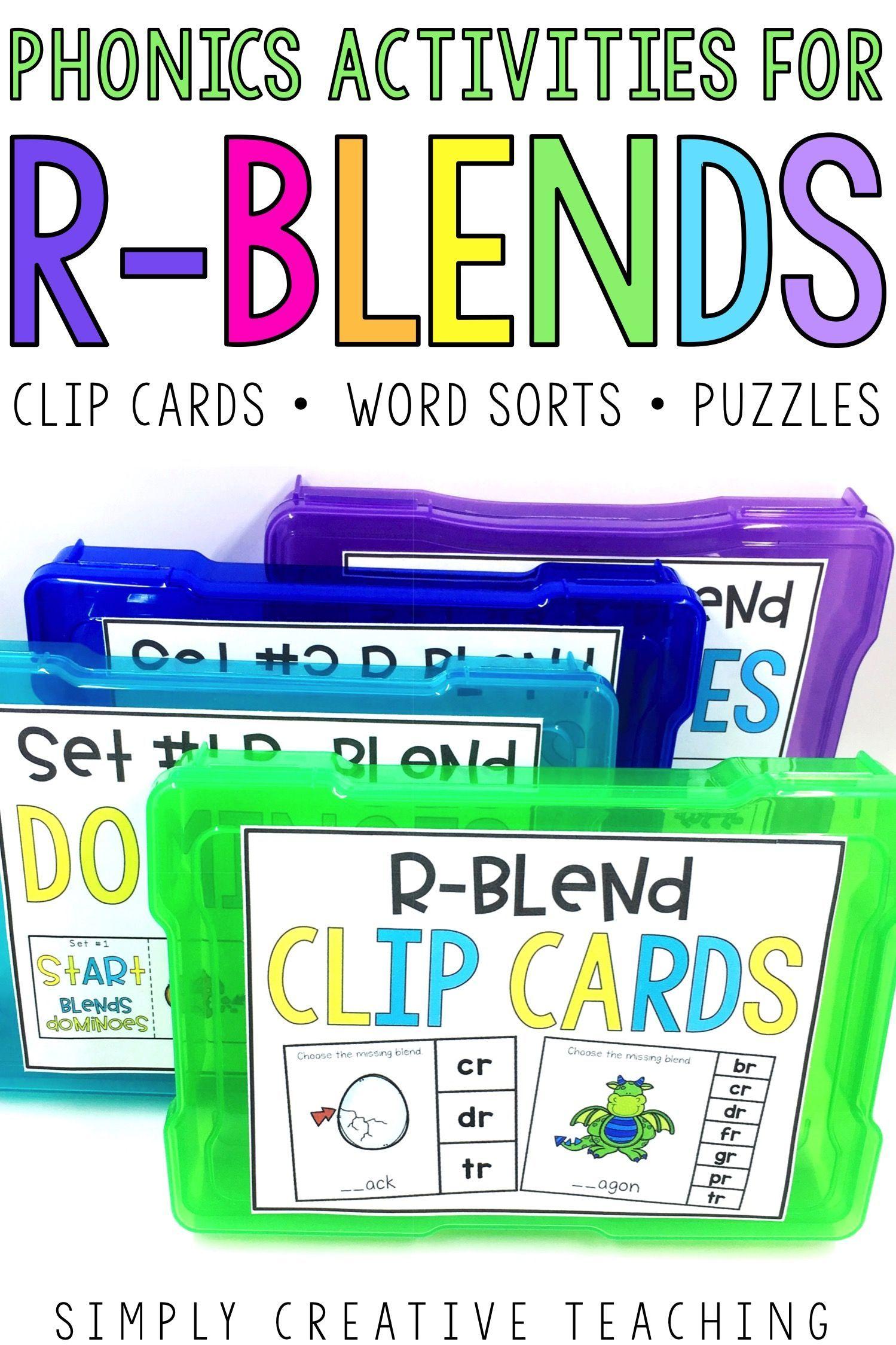 R Blends Activities Word Work Centers