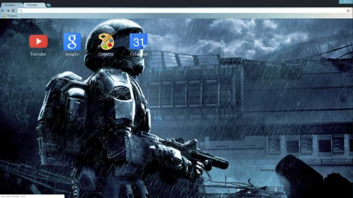 Halo Chrome Theme: Rain | Halo Chrome Themes, Firefox Themes