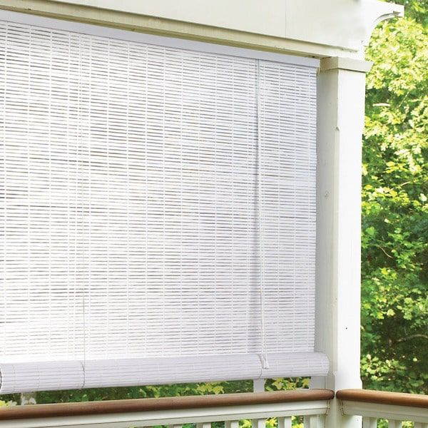 White Indoor Outdoor 1 4 Inch Rollup Blind 72 X 72 36 00 Patio