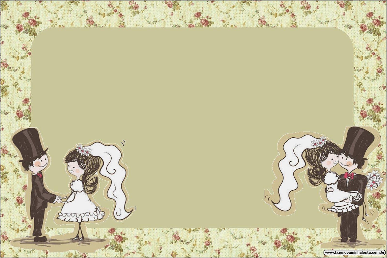 Bodas pareja con fondo provenzal tarjetas o invitaciones - Plantillas para cuadros modernos ...