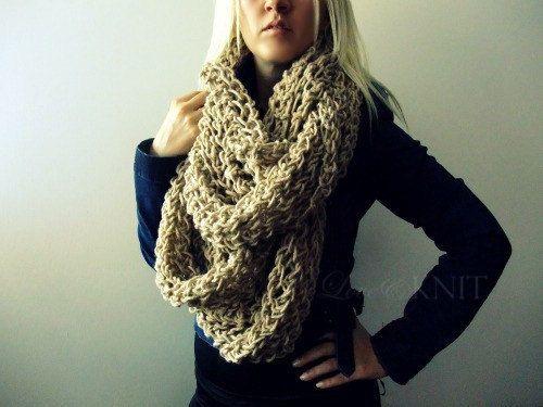 Chunky Knit Scarf Infinity Scarf Oversized Scarf Extra