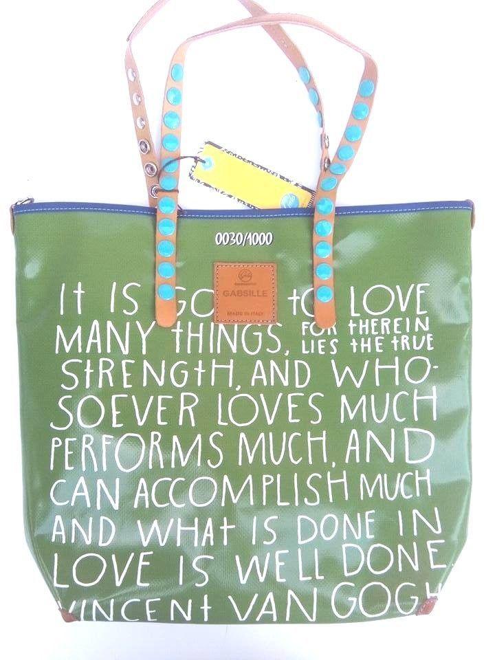 d00a51f5ae Gabsille E16 Borsa Gogh Telone Linea Tg Shopping Van Handbags l Gabs  qYHPtntO