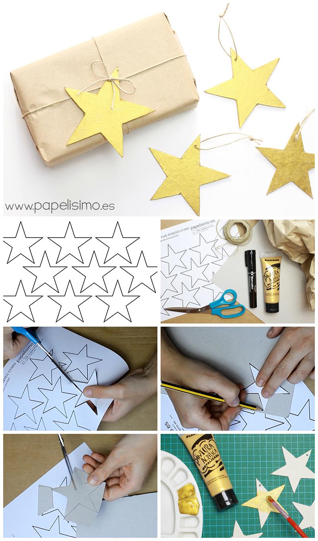 plantilla estrellas etiquetas regalos como hacer paso a paso ...